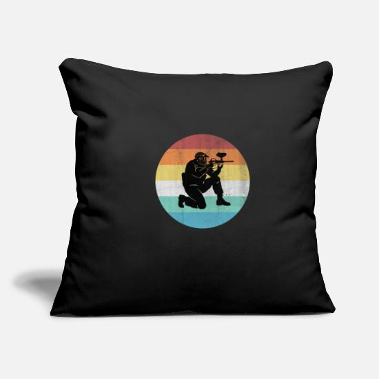 "Play Pillow Cases - Paintball - Throw Pillow Cover 18"" x 18"" black"