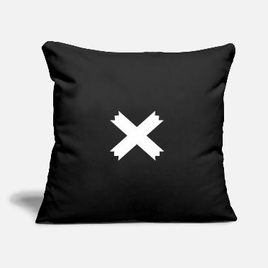 "Jagged Jagged Cross - Throw Pillow Cover 18"" x 18"""