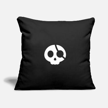 "Eye Patch Skull with an eye patch - Throw Pillow Cover 18"" x 18"""