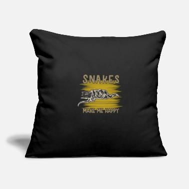 "Crawl Snake Snake - Throw Pillow Cover 18"" x 18"""