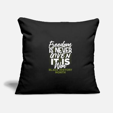 "Black History Month - Throw Pillow Cover 18"" x 18"""