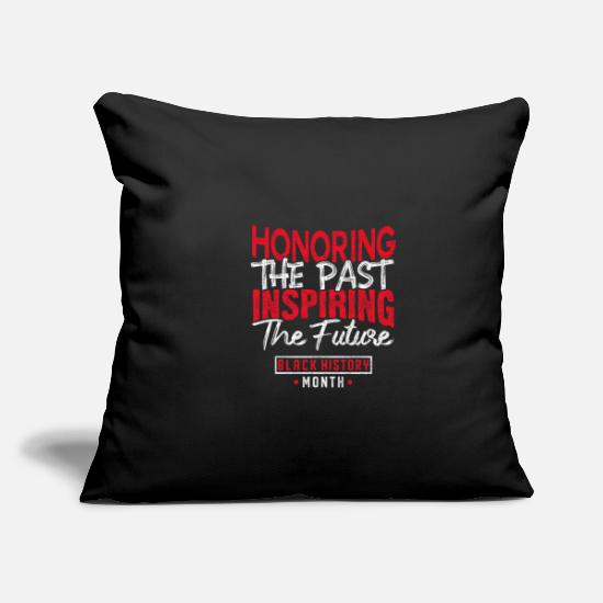 "Month Pillow Cases - Black History Month - Throw Pillow Cover 18"" x 18"" black"