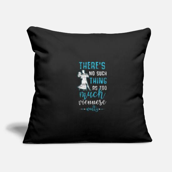 "Fun Pillow Cases - Viennese Waltz - Throw Pillow Cover 18"" x 18"" black"