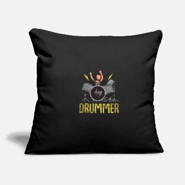 "Funny drums - Throw Pillow Cover 18"" x 18"""