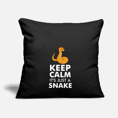 "Snake SNAKES: It's Just A Snake - Throw Pillow Cover 18"" x 18"""