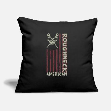 "Oil American Roughneck Oil Wrench Oil Rig Oil Worker - Throw Pillow Cover 18"" x 18"""