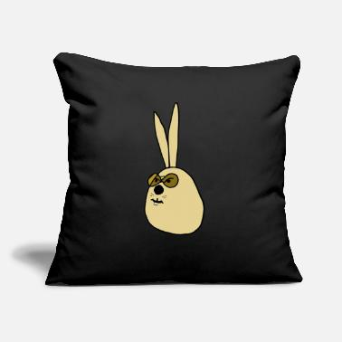 "Old old Rabbit ,old Bunny - Throw Pillow Cover 18"" x 18"""