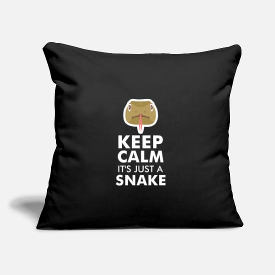 "Cobra Pillow Cases - SNAKES: It's Just A Snake - Throw Pillow Cover 18"" x 18"" black"