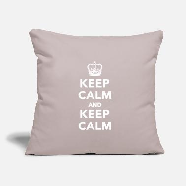 "Keep Calm Keep calm and Keep calm - Throw Pillow Cover 18"" x 18"""