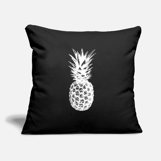 "Pineapple Pillow Cases - pineapple | fruit juicy - Throw Pillow Cover 18"" x 18"" black"