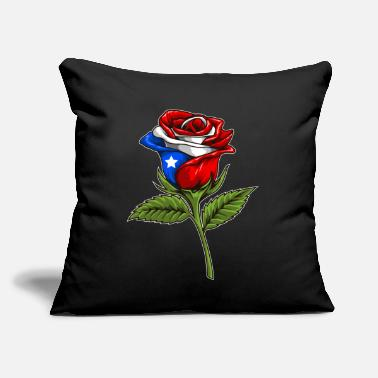 "Commonwealth Puerto Rico Rose - Boricua Flower - Throw Pillow Cover 18"" x 18"""