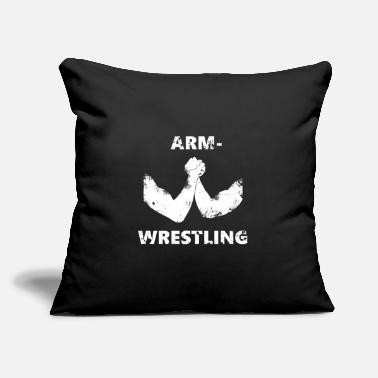 "Armwrestling Armwrestling - Throw Pillow Cover 18"" x 18"""