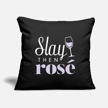 "Vineyards Slay Then Rose - Throw Pillow Cover 18"" x 18"""