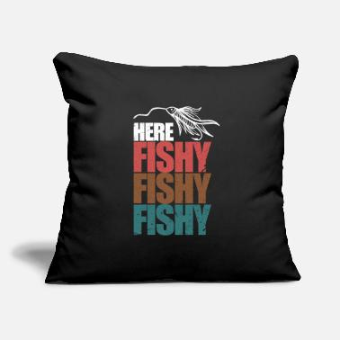 "Fish Hook Fish Hook - Throw Pillow Cover 18"" x 18"""