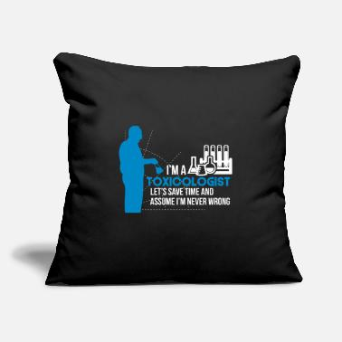 "Scene Toxicologist toxicology doctor - Throw Pillow Cover 18"" x 18"""
