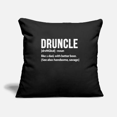 "Father In Law Druncle Like A Dad With Better Beer - Throw Pillow Cover 18"" x 18"""