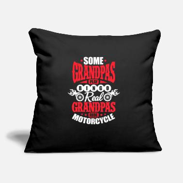 "Real Grandpas Ride Grandpas Play Bingo Real Grandpas Ride Motorcycles - Throw Pillow Cover 18"" x 18"""