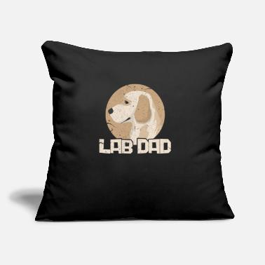 "Paw Lab Dad - Throw Pillow Cover 18"" x 18"""