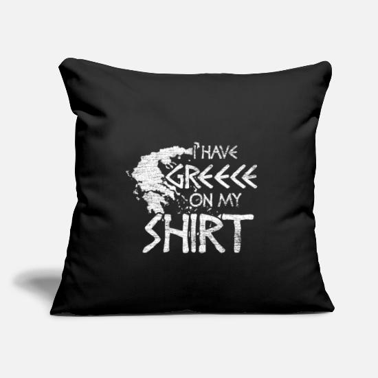 "Greece Pillow Cases - Greece - Throw Pillow Cover 18"" x 18"" black"