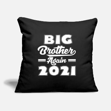 "Big Daddy 2021 Sibling Brother Gift - Throw Pillow Cover 18"" x 18"""