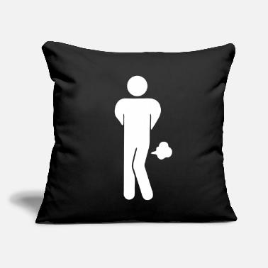 "Funny Toilet Sign Funny Farting Restrooms / Toilet Sign 2 - Throw Pillow Cover 18"" x 18"""