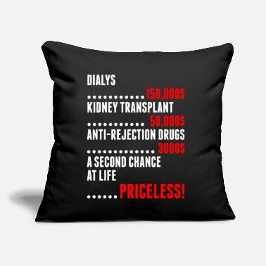"A Second Chance At Life Priceless Tshirt - Throw Pillow Cover 18"" x 18"""