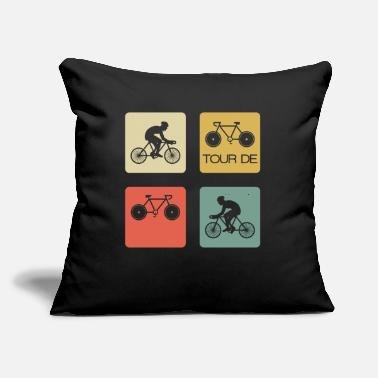 "Alps Road Bike Bicycle Cyclist France Tour Cycling - Throw Pillow Cover 18"" x 18"""