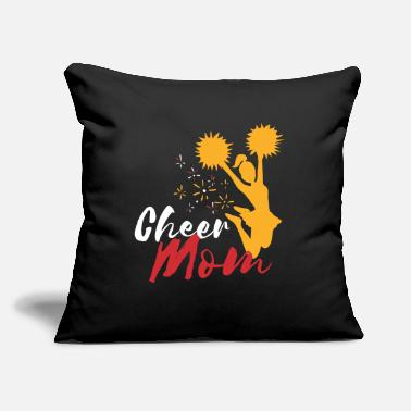 "Sarcastic Cheer Mom - Throw Pillow Cover 18"" x 18"""