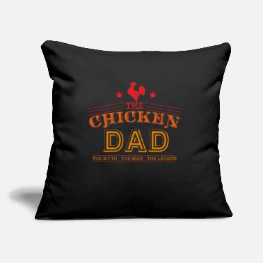 "Chicken Man The Chicken Dad Man Myth Legend - Throw Pillow Cover 18"" x 18"""