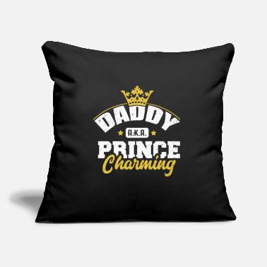 "Care Daddy AKA Prince Charming King Dad Papa Father Lov - Throw Pillow Cover 18"" x 18"""
