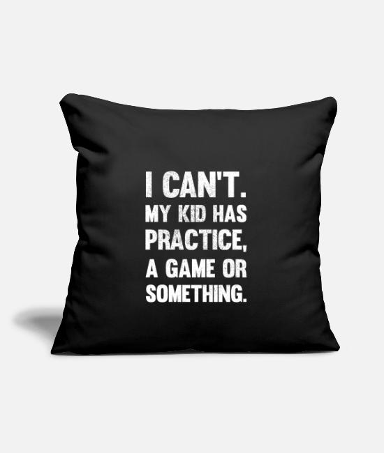 "Christmas Pillow Cases - Funny Gamer Saying Parents Man Woman - Throw Pillow Cover 18"" x 18"" black"