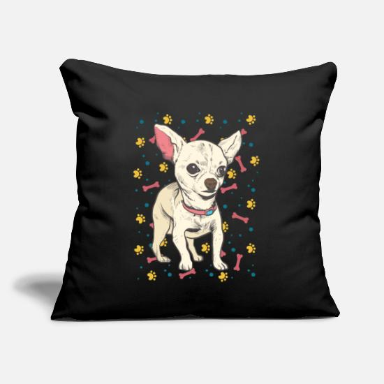 "Chihuahua Pillow Cases - Chihuahua - Throw Pillow Cover 18"" x 18"" black"