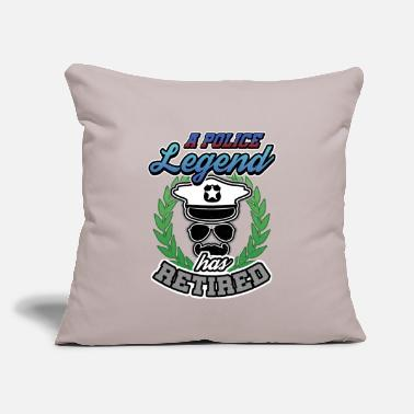 "Police A Police Legend Has Retired Retirees Retirement - Throw Pillow Cover 18"" x 18"""