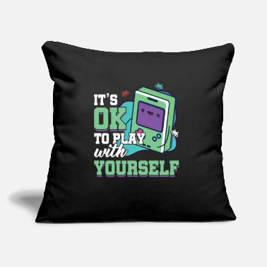 "Gaming Videogames Gaming Computer Games Gift It's Ok To - Throw Pillow Cover 18"" x 18"""