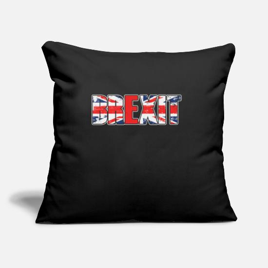 "Country Pillow Cases - UK Flag Brexit British Flag UK Europe Exit Gift - Throw Pillow Cover 18"" x 18"" black"