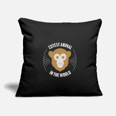 "Animals In The World Cute Animal In The World - Monkey - Throw Pillow Cover 18"" x 18"""