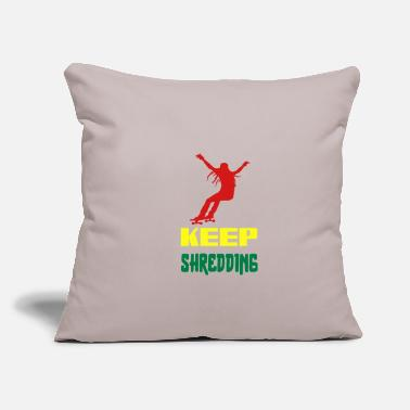 "Longboard Longboarder Longboarding Longboard Present - Throw Pillow Cover 18"" x 18"""