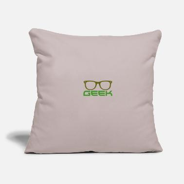"Geek Geek - Throw Pillow Cover 18"" x 18"""