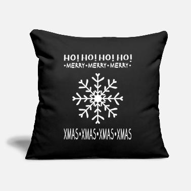 "HO! HO! HO! - Throw Pillow Cover 18"" x 18"""