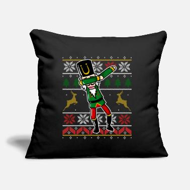 Toddler Funny Dabbing Nutcracker Ugly Christmas Sweater - Throw Pillow Cover