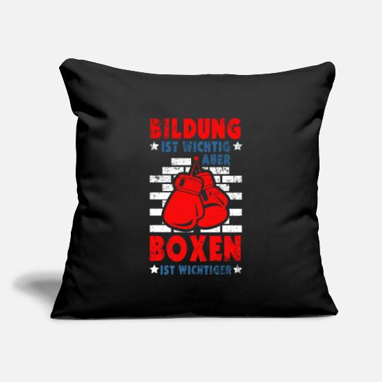 "Boxing Gloves Pillow Cases - Boxing - Throw Pillow Cover 18"" x 18"" black"