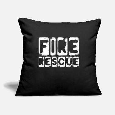 "Rescue Fire Rescue Fire Rescue Fire Rescue Savior - Throw Pillow Cover 18"" x 18"""