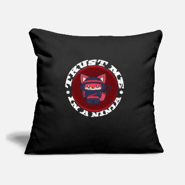 "Karate Ninja - Throw Pillow Cover 18"" x 18"""
