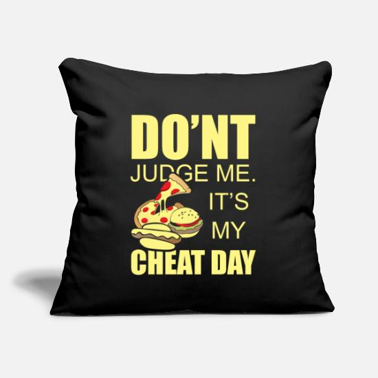 "Slim Pillow Cases - Diet Dietician Overweight Decline Training Healthy - Throw Pillow Cover 18"" x 18"" black"