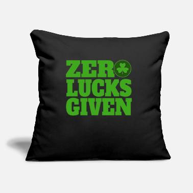 "Ireland Zero Lucks Given St Patricks Day Shamrock Womens - Throw Pillow Cover 18"" x 18"""