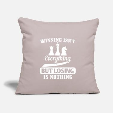 "Chess Board Winning isn´t everything - Throw Pillow Cover 18"" x 18"""