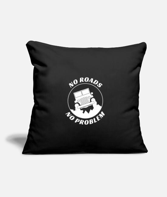"4x4 Pillow Cases - Jeep Lover Country Offroading 4x4 Off Road Gift - Throw Pillow Cover 18"" x 18"" black"