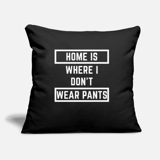 "Goodies Pillow Cases - Home - Throw Pillow Cover 18"" x 18"" black"