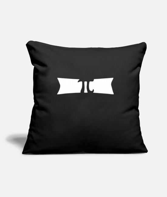 "Archimedes Pillow Cases - Pi - Throw Pillow Cover 18"" x 18"" black"
