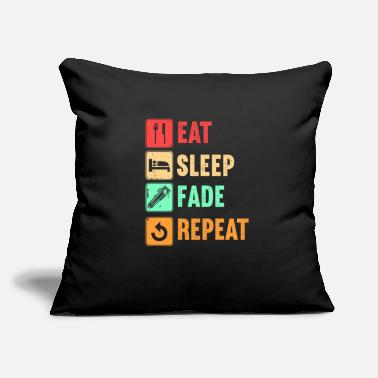 "Eat Sleep Fade Repeat Barber Gift - Throw Pillow Cover 18"" x 18"""